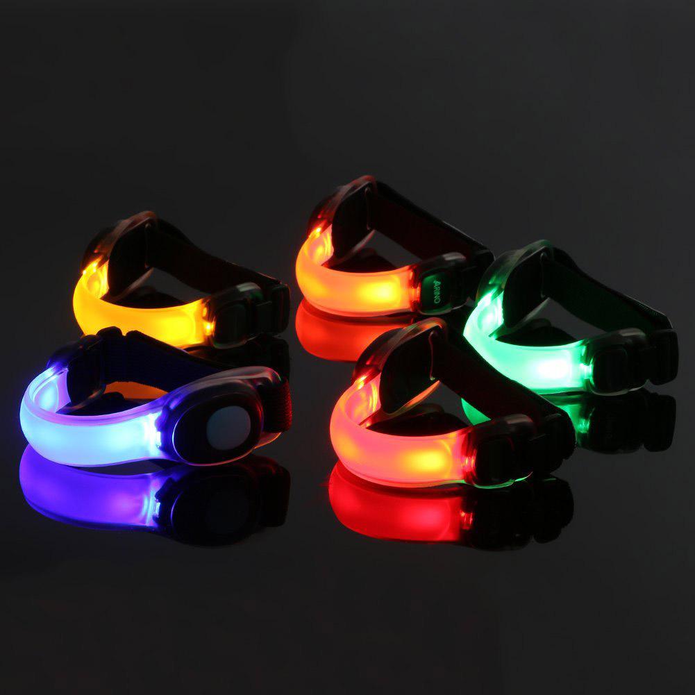 户外夜跑发光警示臂带用品 LED闪光手臂带批发厂家