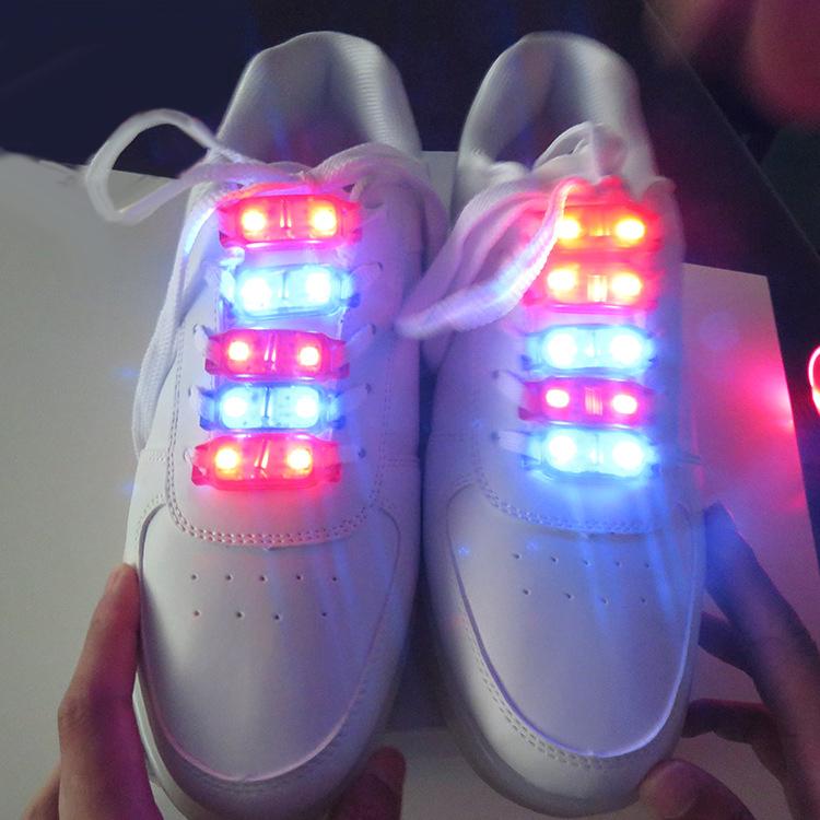 LED防水发光鞋灯LED衣服灯振动拍打触摸闪光灯公仔发光灯